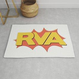 Rva Logo | ' Comic 1 Style ' Rug