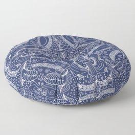 Doodles & Bits Lacy Blue Bandana Floor Pillow