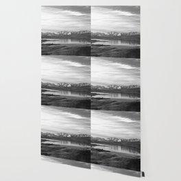 Lake Tekapo New Zealand-Black and White Wallpaper