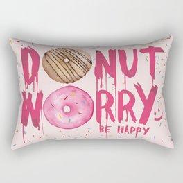 Donut worry art print Rectangular Pillow