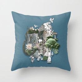 Nangijala –Blue Throw Pillow