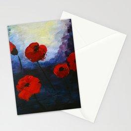 Poppy Flowers  Feeling Stationery Cards