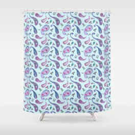 Paisley Rain Aqua Shower Curtain