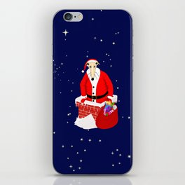 Christmas Whippet iPhone Skin
