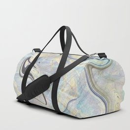 Pastel Gold Mermaid Marble Duffle Bag