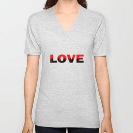 Love Relationship Red Color Of Love Unisex V-Neck