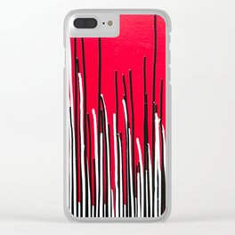 Piano Grass Clear iPhone Case