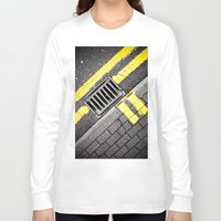 grid Long Sleeve T-shirts featuring Grid by PRE Media