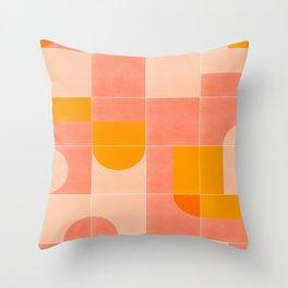 Retro Tiles 03 Throw Pillow