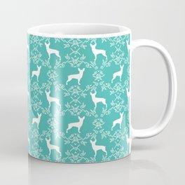 Miniature Pinscher doberman pinscher dog breed pure breed floral dog silhouette Coffee Mug