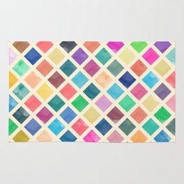 Watercolor geometric pattern Rug