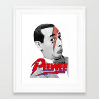 pee wee Framed Art Prints featuring Pee wee by Iamzombieteeth Clothing
