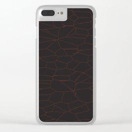 Crackle Red and Black Clear iPhone Case