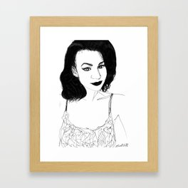 Fancy lady  Framed Art Print