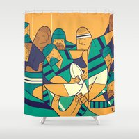 rugby Shower Curtains featuring Rugby 2 by Ale Giorgini
