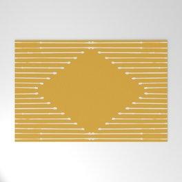 Geo / Yellow Welcome Mat