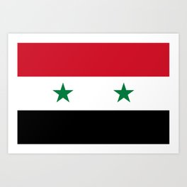 Flag of Syria, High Quality image Art Print