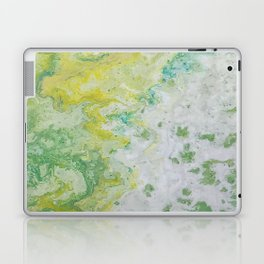Lime Green Aqua Yellow Textured Abstract Laptop & iPad Skin