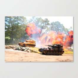 Tank battle Canvas Print