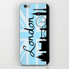 London Script on Union Jack Sky & Sites iPhone Skin