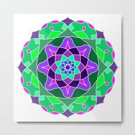 Mandala in nostalgic colors Metal Print