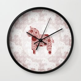 Toy Horse Pattern Wall Clock