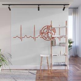 Geologist Heartbeat Wall Mural