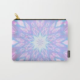 Purple, Teal, White Aura Mandala Carry-All Pouch