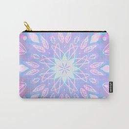 Purple, Teal, White Aura Mandala Carry-All Pouch