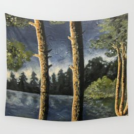 Lake Woodsman View Wall Tapestry