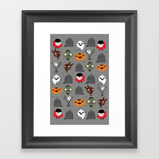 Not that spooky halloween Framed Art Print