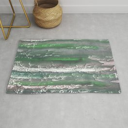 Gray green abstract Rug
