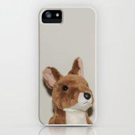 Cute kangaroo plush 0031 iPhone Case