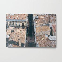 Streets of Bordeaux Metal Print