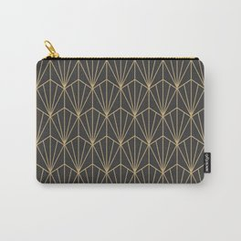 Art Deco Vector in Charcoal and Gold Carry-All Pouch