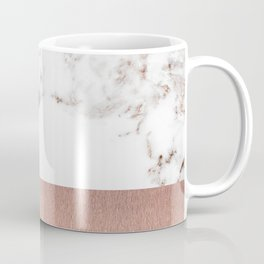 Rose gold marble and foil Coffee Mug