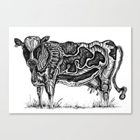 cow Canvas Prints featuring Cow by Ejaculesc
