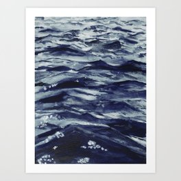 Out there - ocean Art Print