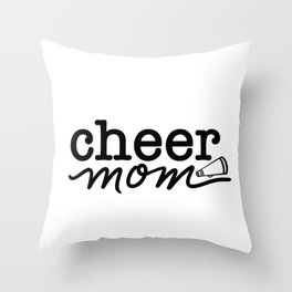 Cheer Mom Throw Pillow