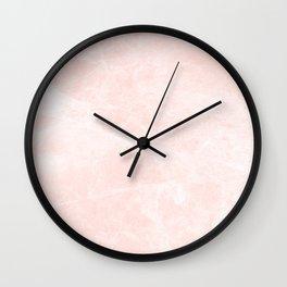 Bright Pink Marble Wall Clock