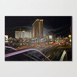 The Strip Las Vegas in plastic Canvas Print