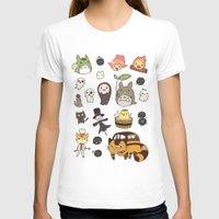 ghibli T-shirts featuring studio ghibli  by skymerol