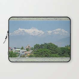 ANNAPURNA II AND LAMJUNG KAILAS FROM POKHARA NEPAL HIMALAYA Laptop Sleeve