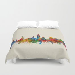 new york skyline watercolor 2 Duvet Cover