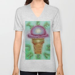 Neon Ice Cream Unisex V-Neck