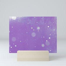 Vintage snow and purple sky Mini Art Print
