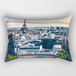Paris City Rectangular Pillow