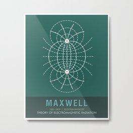 Science Posters - James Clerk Maxwell - Physicist Metal Print