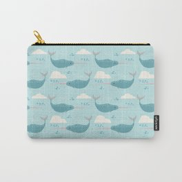 Narwhal blue Carry-All Pouch
