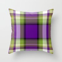 plaid Throw Pillows featuring Plaid by Kevin Rogerson